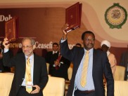 At the Darfur ceasefire negotiations