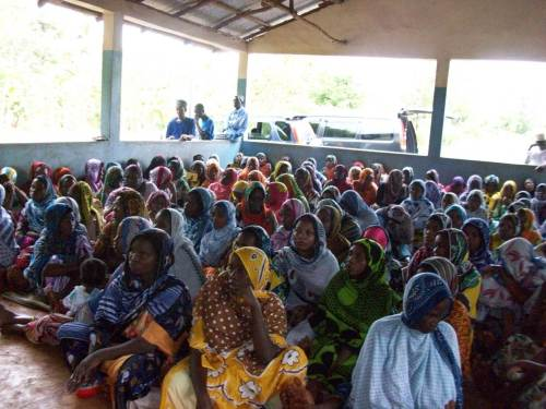 Civil Society outreach in Tanzania on the issue of women's empowerment.