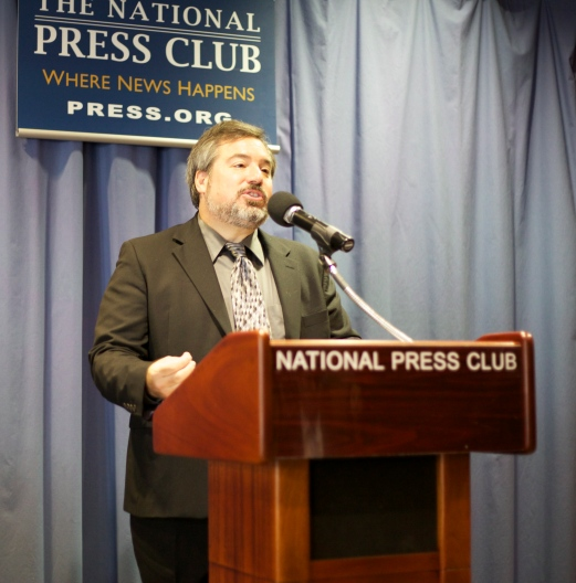 Presenting the draft statute for a Syrian War Crimes Tribunal at the National Press Club