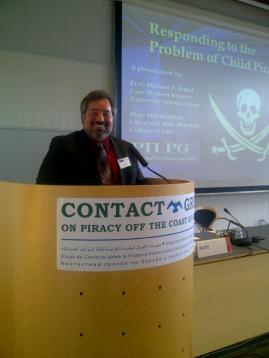 Making recommendations on child piracy at the UN Contact Group for Somali Piracy in Copenhagen